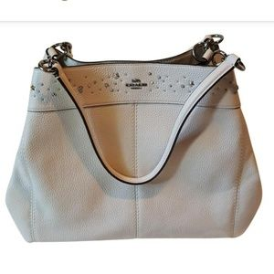 Brand New w/Tag Coach White Leather Bag MSRP $475